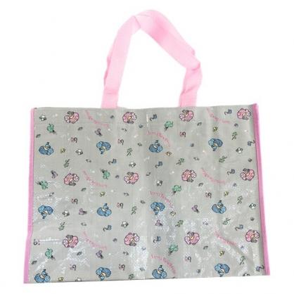 小禮堂 雙子星 方形防水購物袋 環保購物袋 環保袋 側背袋 銅板小物 (灰 滿版)