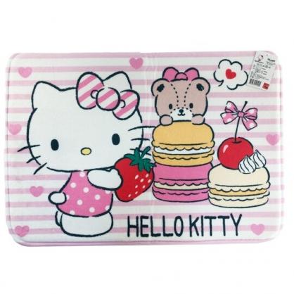 小禮堂 Hello Kitty 方形腳踏墊 吸水踏墊 浴室地墊 止滑海綿 45x65cm (粉 馬卡龍)