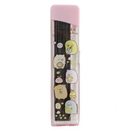 小禮堂 角落生物 自動鉛筆筆芯 2B筆芯 0.5mm 40入 (粉 花圈)