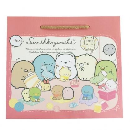 小禮堂 角落生物 橫式方形手提紙袋 禮物紙袋 包裝紙袋 禮品袋 (紅 玩偶)