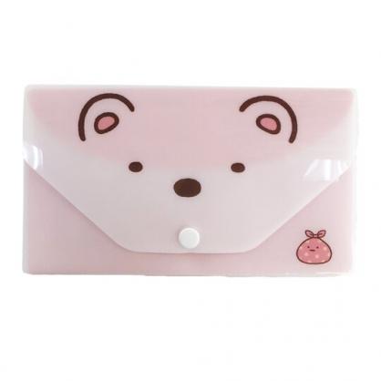 小禮堂 角落生物 塑膠扣式口罩夾 附口罩 口罩套 口罩包 口罩收納 (白 北極熊)