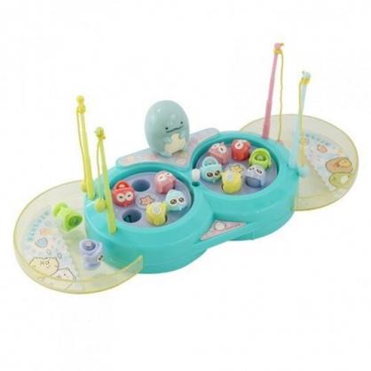 小禮堂 角落生物 塑膠釣魚玩具 旋轉釣魚池 釣魚遊戲 洗澡玩具 (綠 海底)