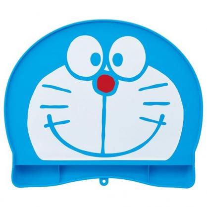 小禮堂 哆啦A夢 可收納造型防漏餐墊 矽膠餐墊 防滑餐墊 兒童餐墊 (藍 大臉)