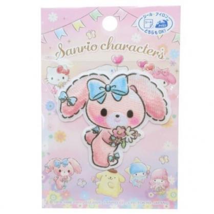 小禮堂 蹦蹦兔 造型燙布貼 刺繡布貼 衣服燙貼 布飾 (粉 花束)