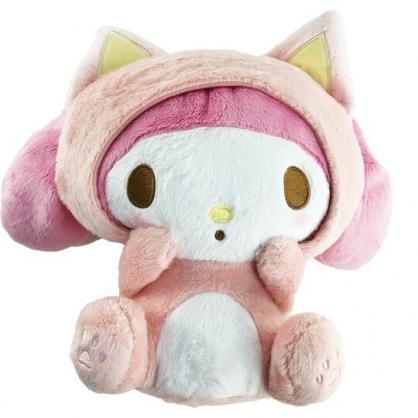 小禮堂 美樂蒂 絨毛玩偶 貓裝玩偶 絨毛娃娃 中型玩偶 布偶 (M 粉 貓咪)