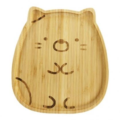 小禮堂 角落生物 造型木質盤 早餐盤 點心盤 水果盤 麵包盤 木托盤 (棕 貓咪)
