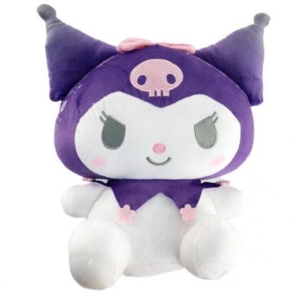 小禮堂 酷洛米 絨毛玩偶 絨毛娃娃 中型玩偶 布偶 (M 紫 花紋帽)