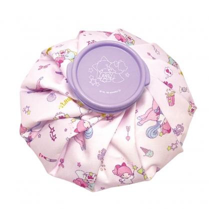 小禮堂 雙子星 圓筒型尼龍冰敷袋 冰枕 退熱袋 冷敷袋 (紫 獨角獸)