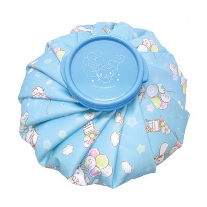 小禮堂 大耳狗 圓筒型尼龍冰敷袋 冰枕 退熱袋 冷敷袋 (藍 汽球)