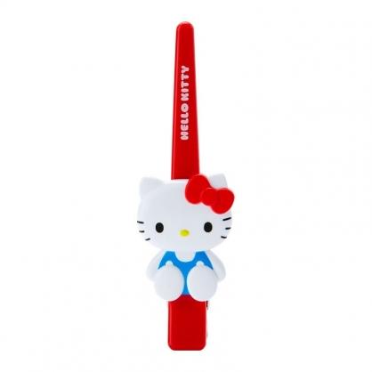 小禮堂 Hello Kitty 造型塑膠長髮夾 鴨嘴夾 瀏海夾 馬尾夾 大髮夾 (紅 玩偶)