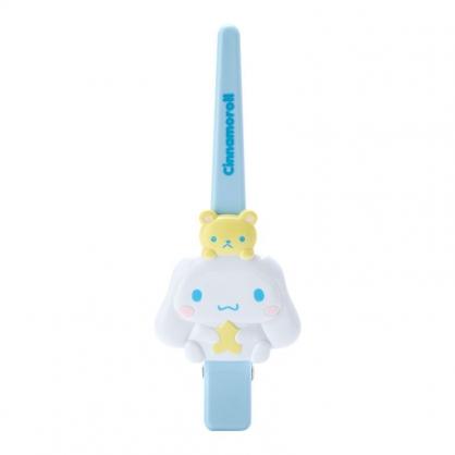 小禮堂 大耳狗 造型塑膠長髮夾 鴨嘴夾 瀏海夾 馬尾夾 大髮夾 (藍 玩偶)