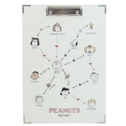 小禮堂 史努比 A4木質文件夾板 A4板夾 資料板夾 菜單夾 木夾板 (米 關係圖)