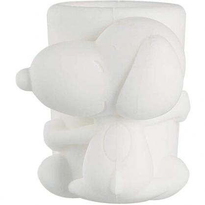 小禮堂 史努比 造型矽膠雨傘握柄止滑套 傘柄套 傘柄防滑 (白 抱姿)