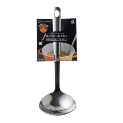 小禮堂 Arnest 日製 可掛式不鏽鋼湯勺 鍋邊湯勺 大湯匙 鍋勺 (銀)