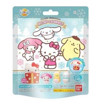小禮堂 Sanrio大集合 入浴球 入浴劑 泡澡球 沐浴球 (4款隨機 綠 雪花)