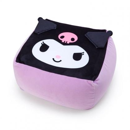 【免運】小禮堂 酷洛米 方形絨毛抱枕 絨毛坐墊 懶骨頭 椅背枕 方坐墊 (紫 大臉)