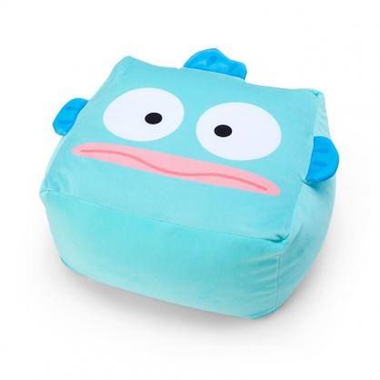 小禮堂 人魚漢頓 方形絨毛抱枕 絨毛坐墊 懶骨頭 椅背枕 方坐墊 (藍 大臉)