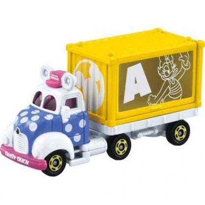 小禮堂 TOMICA多美小汽車 迪士尼 黛西 造型貨櫃車 玩具車 模型車 (黃)