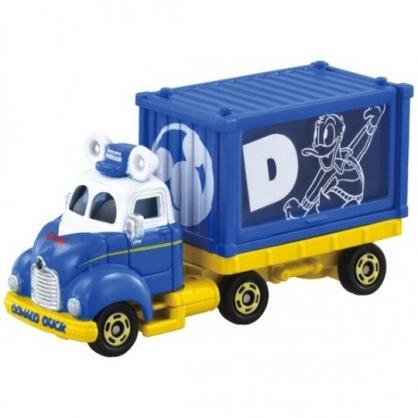 小禮堂 TOMICA多美小汽車 迪士尼 唐老鴨 造型貨櫃車 玩具車 模型車 (藍)