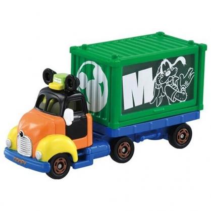 小禮堂 TOMICA多美小汽車 迪士尼 高飛 造型貨櫃車 玩具車 模型車 (綠)