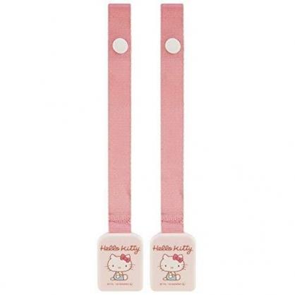 小禮堂 Hello Kitty 方形塑膠防落夾 雙頭夾 圍兜夾 奶嘴夾 玩具夾 棉被夾 (粉 物品)