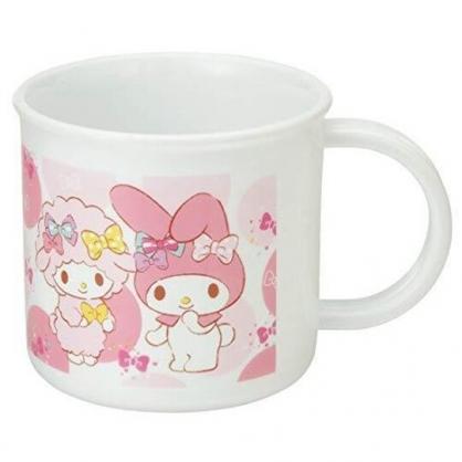 小禮堂 美樂蒂 日製 單耳塑膠杯 兒童水杯 漱口杯 小水杯 200ml (粉白 點點)
