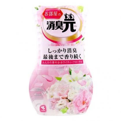 小禮堂 小林製藥 日製 瓶裝室內芳香劑 浴廁芳香劑 除臭劑 百花香 400ml (粉)