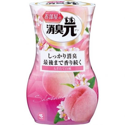 小禮堂 小林製藥 日製 瓶裝室內芳香劑 浴廁芳香劑 除臭劑 蜜桃香 400ml (粉)