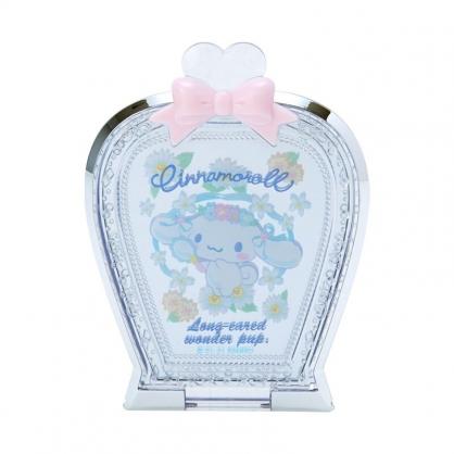 小禮堂 大耳狗 香水瓶造型隨身鏡 壓克力鏡 化妝鏡 折疊鏡 立鏡 (藍 花園生活)