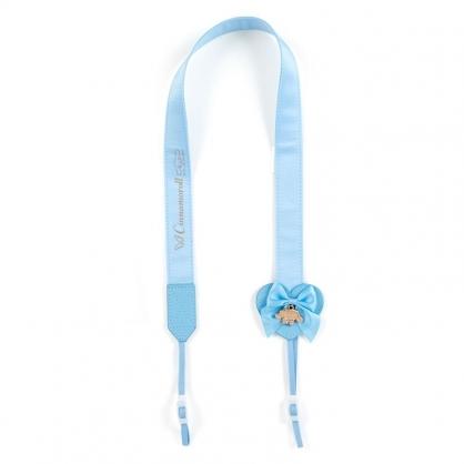小禮堂 大耳狗 日製 緞面望遠鏡背帶 相機背帶 多功能背帶 頸掛繩 (藍 演唱會粉絲收納)