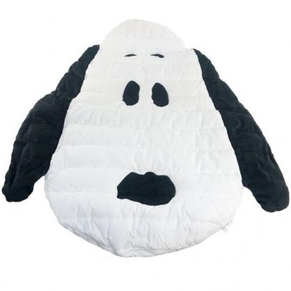 小禮堂 史努比 造型棉質嬰兒睡墊 附收納袋 止滑睡墊 寶寶地墊 防護地墊 100x110cm (白 大臉)