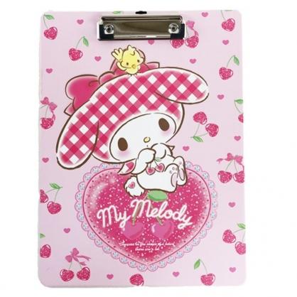 小禮堂 美樂蒂 A4木質文件夾板 A4板夾 資料板夾 菜單夾 木夾板 (粉 櫻桃)