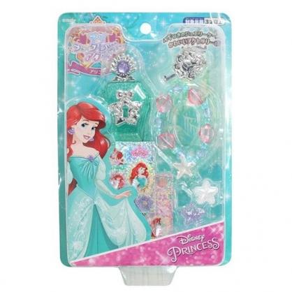 小禮堂 迪士尼 小美人魚 飾品玩具組 附貼紙 化妝玩具 首飾玩具 扮家家酒 (綠 禮服)