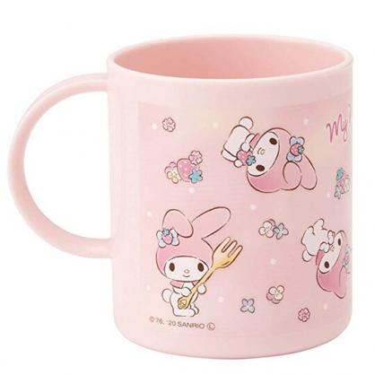 小禮堂 美樂蒂 日製 單耳塑膠杯 兒童水杯 漱口杯 小水杯 240ml (粉 滿版)