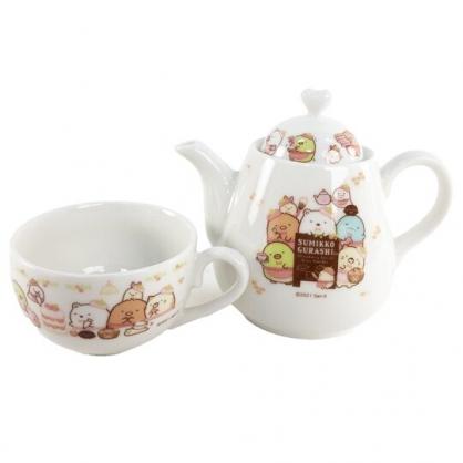 小禮堂 角落生物 陶瓷水壺水杯組 咖啡壺 咖啡杯 杯壺組 午茶杯壺 (黃 草莓)