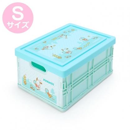 小禮堂 帕恰狗 透明蓋折疊收納箱 塑膠收納箱 拿蓋收納箱 玩具箱 雜物箱 (S 綠 蘿蔔)