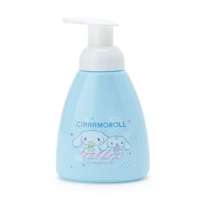 小禮堂 大耳狗 塑膠按壓式空瓶 幕斯空瓶 沐浴乳罐 洗手乳罐 泡泡瓶 300ml (藍 防疫對策)