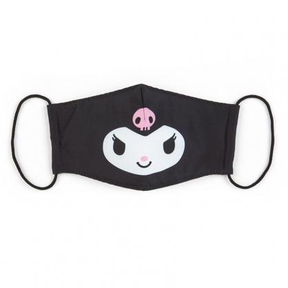 小禮堂 酷洛米 成人布口罩 平面口罩 純棉口罩 防塵口罩 可水洗 (黑 防疫對策)