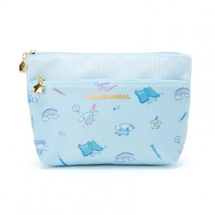 小禮堂 大耳狗 船形尼龍雙層化妝包 三角化妝包 收納包 盥洗包 小物包 (藍 2021新生活)