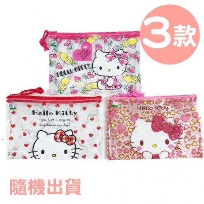小禮堂 Hello Kitty 防水扁平收納袋 萬用資料袋 文具袋 鉛筆袋 (3款隨機)
