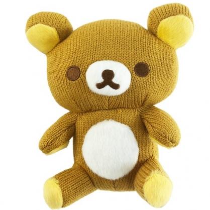 小禮堂 懶懶熊 針織玩偶 毛線娃娃 毛線玩偶 小型玩偶 布偶 (S 淺棕 坐姿)