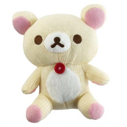 小禮堂 懶懶熊 牛奶熊 針織玩偶 毛線娃娃 毛線玩偶 小型玩偶 布偶 (S 米 坐姿)