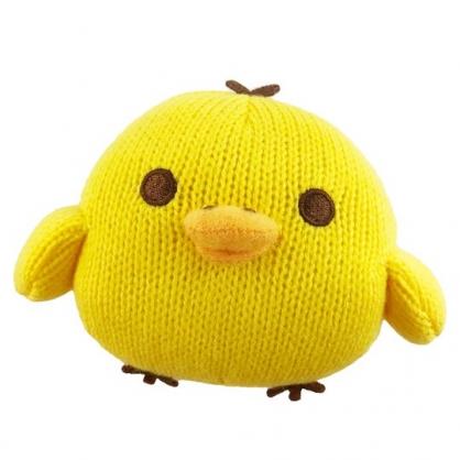 小禮堂 懶懶熊 小雞 針織玩偶 毛線娃娃 毛線玩偶 小型玩偶 布偶 (S 黃 坐姿)