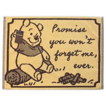 小禮堂 迪士尼 小熊維尼 毛巾腳踏墊 吸水腳踏墊 浴墊 地墊 踏墊 45x60cm (黃棕 木頭)