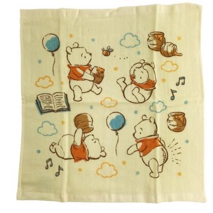 小禮堂 迪士尼 小熊維尼 純棉紗布短毛巾組 純棉毛巾 方形毛巾 紗巾 34x35cm (2入 黃 雲朵)