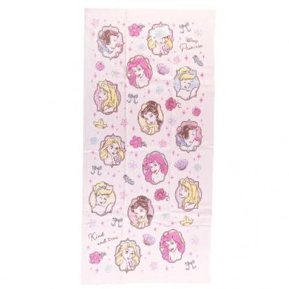 小禮堂 迪士尼 公主 純棉紗布浴巾 純棉浴巾 身體毛巾 60x120cm (粉 框框)