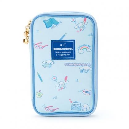 小禮堂 大耳狗 尼龍多功能收納包 防潑水收納包 證件包 護照包 文具包 (藍 2021新生活)
