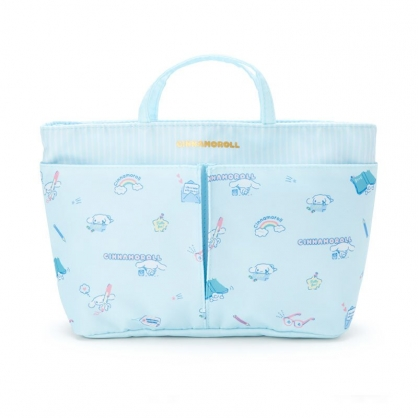 小禮堂 大耳狗 尼龍雙格盥洗收納包 防潑水盥洗包 沐浴包 手提包 (藍 2021新生活)