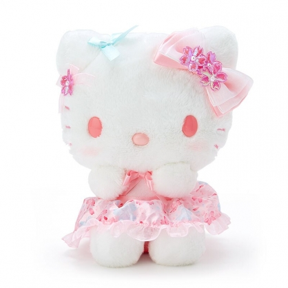 小禮堂 Hello Kitty 沙包絨毛玩偶 沙包娃娃 櫻花玩偶 小型玩偶 布偶 (粉 大和櫻花)