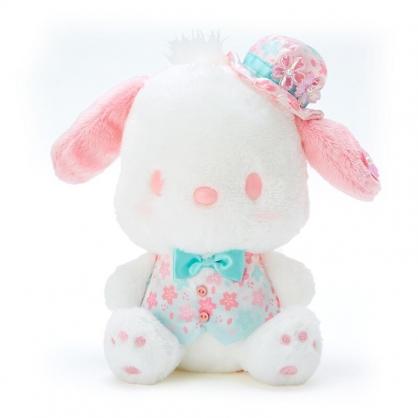 小禮堂 帕恰狗 沙包絨毛玩偶 沙包娃娃 櫻花玩偶 小型玩偶 布偶 (綠 大和櫻花)